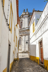 Portugal , Évora . Stone houses and streets, paved with stone