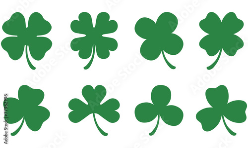 Four and Three Leaf Clovers - 77962996