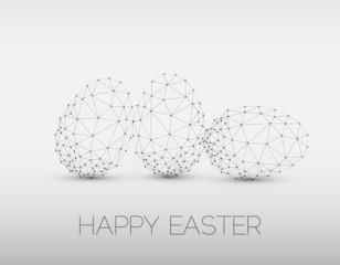 Minimalistic geometric vector Happy Easter card