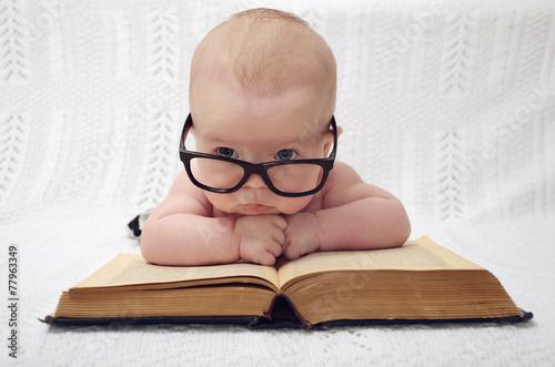 cute professor baby - 77963349