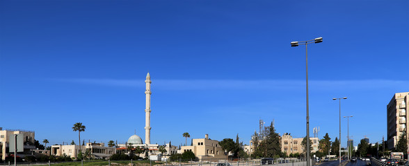 Mosques architecture in Amman, Jordan,  Middle East