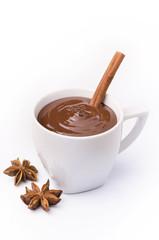 tazza di cioccolata con spezie