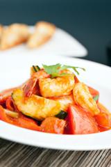 Thai Sweet and Sour Shrimp Dish