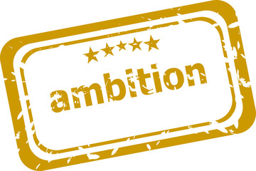 ambition stamp isolated on white background