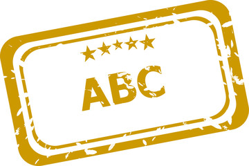 abc stamp isolated on white background