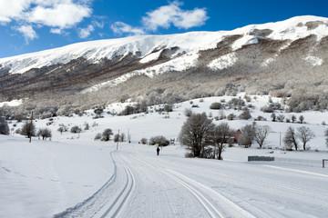 Cross -Country Ski Slope Abruzzi Italy