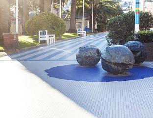 Lucio Fontana spheres in Albissola Marina, Liguria