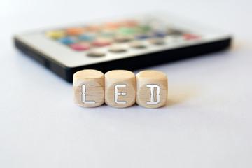 LED Remote With LED-Cube Acronym