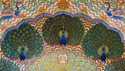 City Palace peacocks.