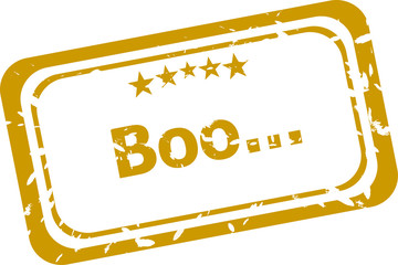 boo stamp isolated on white background