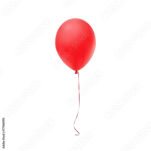 Red balloon icon isolated on white background - 77966990
