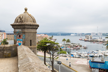 guard tower in Ferrol, Galicia, Spain
