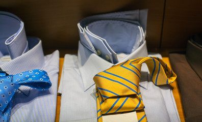 Male shirts and necktie