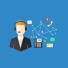 Office Worker concept, Vector illustration