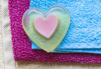 accessories heart-shaped soap