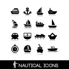 Nautical icons set 1