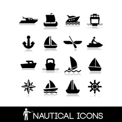 Nautical icons set 2