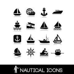 Nautical icons set 3