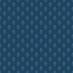 fleur de lis texture in dark blue color