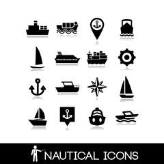 Nautical icons set 4