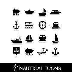 Nautical icons set 5
