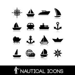 Nautical icons set 6