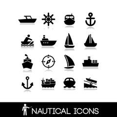 Nautical icons set 7