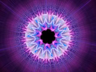 Multicolored space mandala