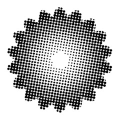 bstract_flower_halftone_black