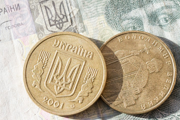One Ukrainian hryvnia