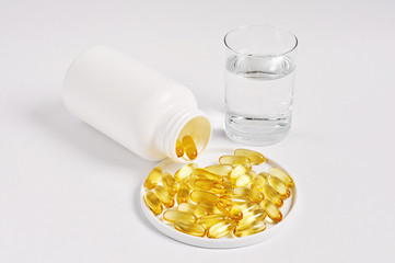 Fish oil with omega-3 supplement