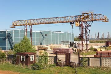 Cargo crane at the terminal