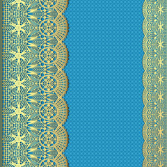 background with stripes of gold lace and place for text