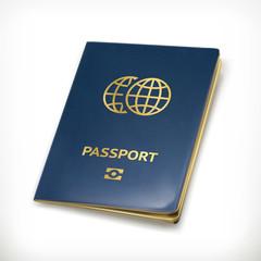 Passport, vector icon