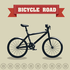 Bike design, vector illustration.