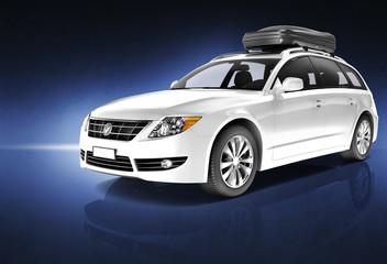 Car Automobile Contemporary Driving Transportation Concept