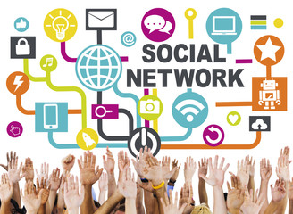 Support Technology Connection Connecting Social Network Concept