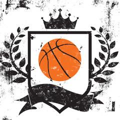 Basketball shield insignia