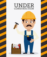 Construction design, vector illustration.