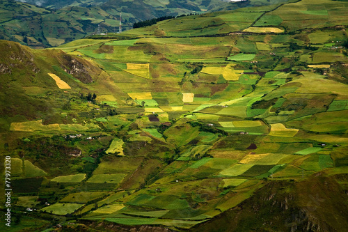 canvas print picture Beautiful andean city of Cañar in Azogues Ecuador