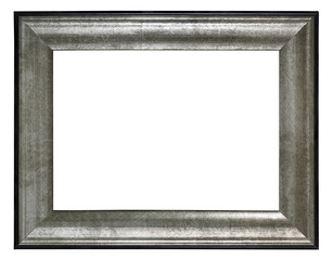 silver frame incl.clipping path