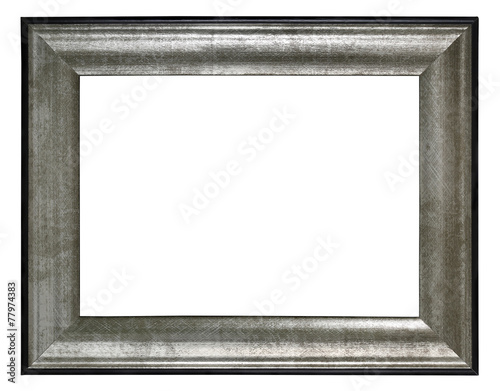 silver frame incl.clipping path - 77974383