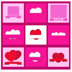 Vector set of  valentines day