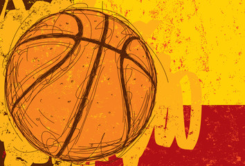 Sketchy Basketball Background