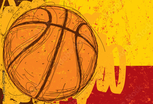 Sketchy Basketball Background - 77975961