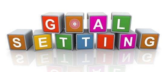 3d buzzword text 'goal setting'