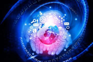 Modern wireless technology and internet concept