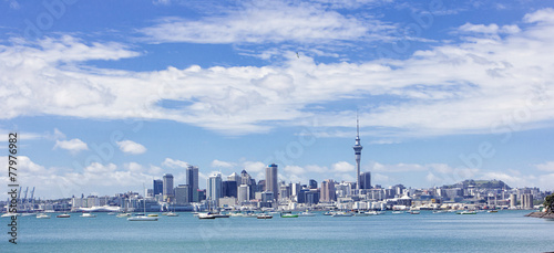 In de dag Nieuw Zeeland Wide view of Auckland, New Zealand
