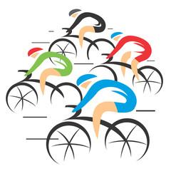 Bicycle road racers.