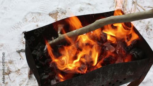 In de dag Vuur / Vlam mixing charcoal grill